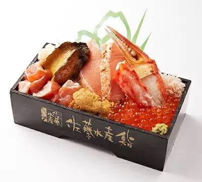佐藤水産鮨の「北海道炙り時鮭ルイベ漬と 奥尻島ウニアワビ弁当」
